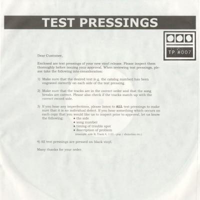 Demdike Stare – Test pressing 007 (EP)